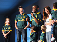 CAPE TOWN, SOUTH AFRICA - Thursday 24 April 2014, during the Asics launch of the new Springbok rugby jersey at The Lookout in the V&amp;A Waterfront<br /> Photo by Roger Sedres/ImageSA