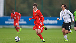NEWPORT, WALES - Monday, October 14, 2019: Wales' Harry Pinchard during an Under-19's International Friendly match between Wales and Austria at Dragon Park. (Pic by David Rawcliffe/Propaganda)