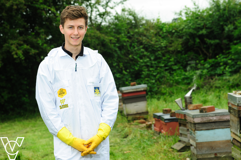 Ollie Pont, 20, is part of the Rowse BFA apprenticeship scheme - Bee a Beefarmer.  Mr Pont works at Top House Farm in Doddington, Lincoln.<br /> <br /> Picture: Chris Vaughan/Chris Vaughan Photography<br /> Date: June 17, 2016