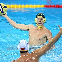 Rhys Howden of Australia in action during th game against Montenegro, Australia v Montenegro..Yingdong Natatorium of National Olympic Sports Center 18-8-08   ..Photo: Grant Treeby/WSP