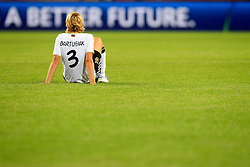 FUSSBALL: Frauen, WM 2011, Viertelfinale, Deutschland - Japan 0:1 n.V., Wolfsburg, 09.07.2011<br /> Enttaeuschung bei Saskia BARTUSIAK (GER)<br /> © pixathlon *** Local Caption *** +++ www.hoch-zwei.net, copyright: HOCH ZWEI / Philipp Szyza +++