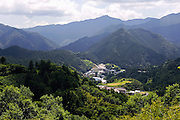 Nestled amid lush mountains, Kamikatsu Town in Shikoku, Japan. Kamikatsu has a population of 2,009.