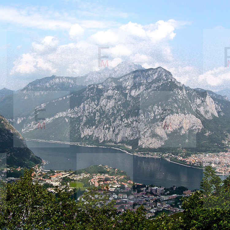 Lago di Garlate visto dal Monte Barro..Garlate lake viewed from Monte Barro