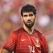 Luis Neto, (centre), Portugal, during the Portugal V Ireland International Friendly match in preparation for the 2014 FIFA World Cup in Brazil. MetLife Stadium, Rutherford, New Jersey, USA. 10th June 2014. Photo Tim Clayton
