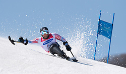March 14, 2018 - Pyeongchang, South Korea - Tyler Walker of the US during Giant Slalom competition Wednesday, March 14, 2018 at the Jeongson Alpine Center at the Pyeongchang Winter Paralympic Games. Photo by Mark Reis (Credit Image: © Mark Reis via ZUMA Wire)