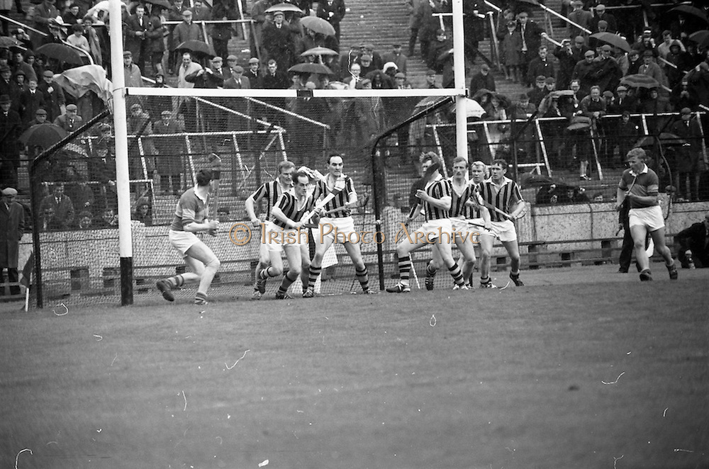 12/05/1968<br /> 05/12/1968<br /> 12 May 1968<br /> National Hurling League Home Final: Tipperary v Kilkenny at Croke Park, Dublin.<br /> The Kilkenny men guard their goal.