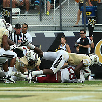 South Carolina Gamecocks running back Mike Davis (28) scores a touchdown during an NCAA football game between the South Carolina Gamecocks and the Central Florida Knights at Bright House Networks Stadium on Saturday, September 28, 2013 in Orlando, Florida. (AP Photo/Alex Menendez)