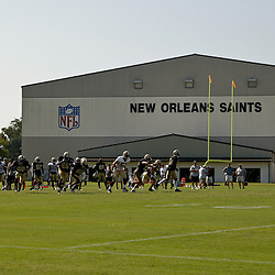 July 31, 2010; Metairie, LA, USA; A general view during a training camp practice at the New Orleans Saints practice facility. Mandatory Credit: Derick E. Hingle