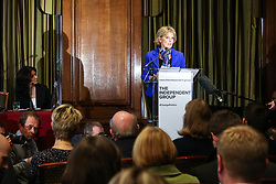 © Licensed to London News Pictures. 20/02/2019. London, UK. Anna Soubry speaking at the press conference. Former Conservative MPs Anna Soubry, Sarah Wollaston and Heidi Allen hold news conference after leaving the party for Independent Group in Westminster. Photo credit: Dinendra Haria/LNP
