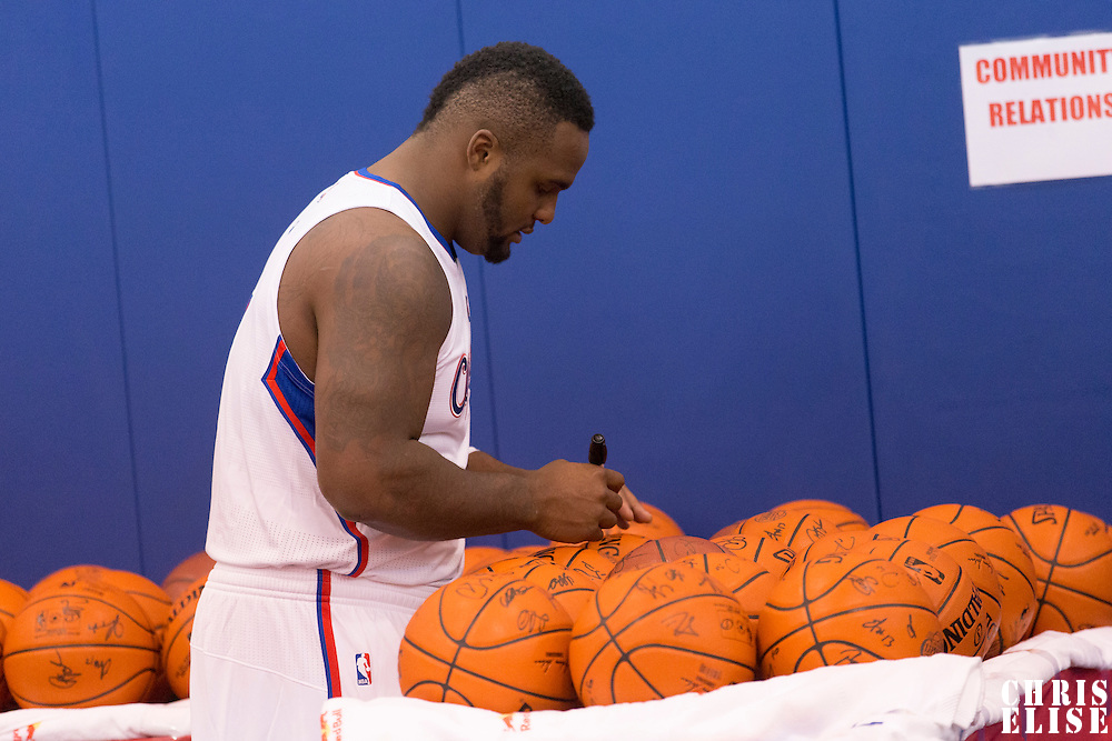 29 September 2014: Glen Davis is seen during the Los Angeles Clippers Media Day, at Los Angeles Clippers Training Facility, Playa Vista, California, USA.
