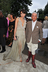 CAROLINE SIEBER and NICKY HASLAM at the annual Serpentine Gallery Summer Party sponsored by Burberry held at the Serpentine Gallery, Kensington Gardens, London on 28th June 2011.
