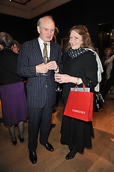 SIR HUMPHREY WAKEFIELD and LEONORA, COUNTESS OF LICHFIELD at a party to celebrate the publication of The irish Country House written by The Knight of Glin and James Peill with photographs by James Fennell, held at Christie's, King Street, London on 24th January 2011.