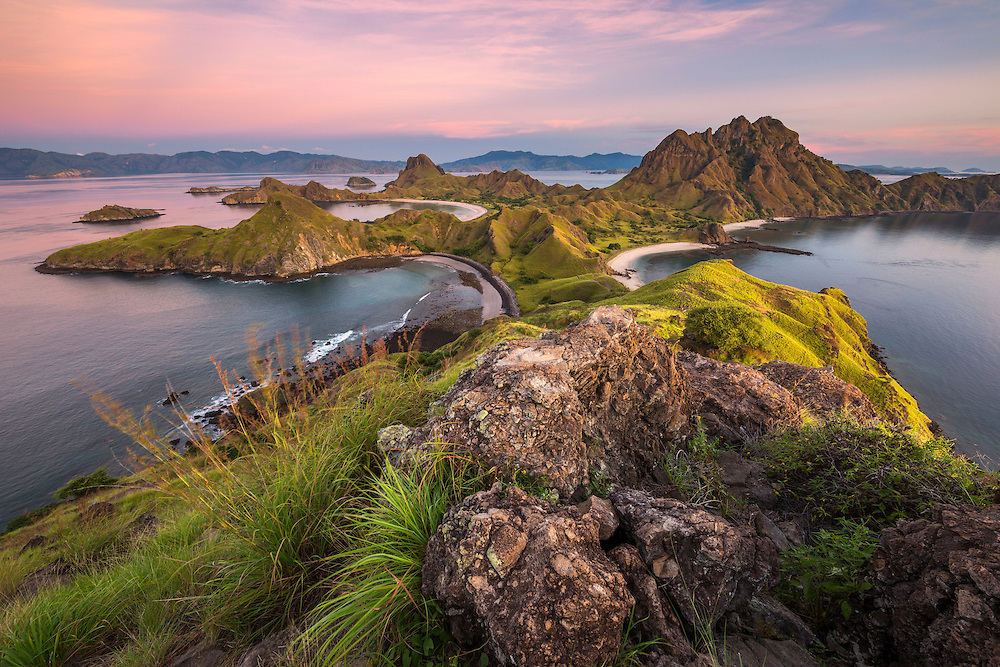 Sunrise from Padar Island, Komodo National Park, Indonesia.