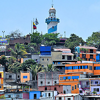 Lighthouse on Santa Ana Hill in Guayaquil, Ecuador<br />