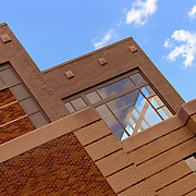 """""""Window Treatment""""<br /> <br /> Beautiful angles, style, bricks and windows of the library at Eastern Michigan University!!<br /> <br /> Architecture: Structures and buildings by Rachel Cohen"""