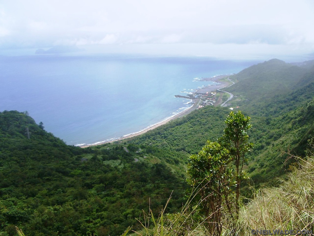 The Caoling Hiking Trail has beautiful views of the east coast of Taiwan.