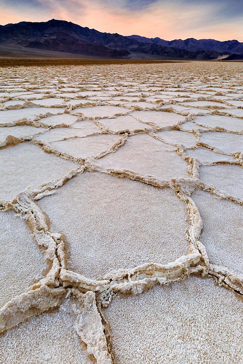 Salt Pans Dusk Glow - Death Valley, CA