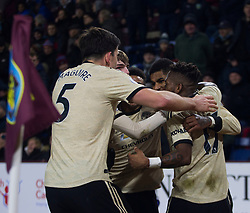 Marcus Rashford of Manchester United (2nd R) celebrates after scoring his sides second goal - Mandatory by-line: Jack Phillips/JMP - 28/12/2019 - FOOTBALL - Turf Moor - Burnley, England - Burnley v Manchester United - English Premier League