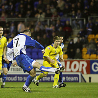 St Johnstone v Morton....08.12.07 <br /> Paul Sheerin scores from the spot to make it 1-1<br /> Picture by Graeme Hart.<br /> Copyright Perthshire Picture Agency<br /> Tel: 01738 623350  Mobile: 07990 594431