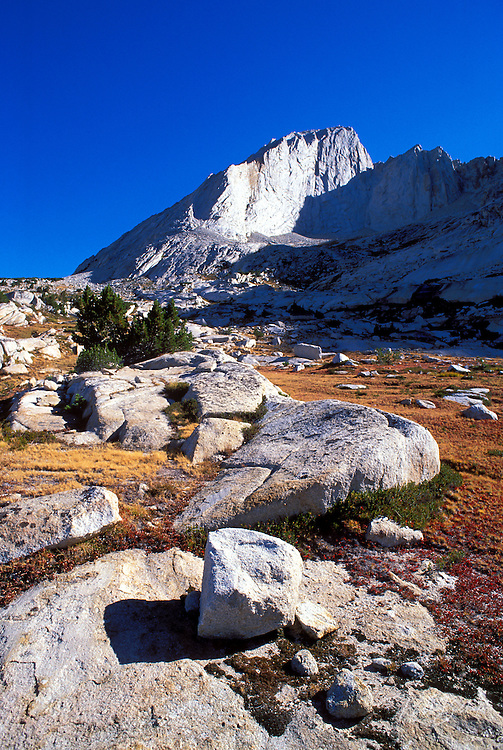 Morning light on Mt. Conness from thesouth, Tuolumne Meadows area, Yosemite National Park, California
