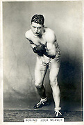 Amazing images of Britain's best boxers from the 1920's<br /> <br /> From the 1920s up until World War 2 cigarette companies, sporting magazines and boys' weeklies included real photo cards of sports stars to collect and swap. These photos of British boxers come from magazines like The Champion, The Magnet and Boy's Friend and cigarette companies such as Senior Service and Ogdens.<br /> <br /> Photo shows: Jock McAvoy: Born Joseph Bamford in Burnley, Lancashire, Jock McAvoy won British titles as a middle, light heavy and heavyweight and lost a decision to John Henry Lewis in his only world title challenge in 1936.  In 1935 however he fought World Middleweight Champion, Babe Risko, in a non-title bout and knocked him out in the first round. Needless to say, Risko never offered him a chance at his title. In the 1950s McAvoy contracted polio and was forced to use a wheelchair for the rest of his life.<br /> ©One mans treasure/Exclusivepix Media