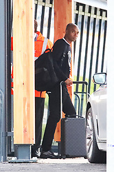 Fernandinho and other members of the Manchester City team are seen at Manchester Airport as they travel for their Champions League fixture.