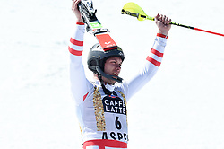 19.03.2017, Aspen, USA, FIS Weltcup Ski Alpin, Finale 2017, Slalom, Herren, Siegerpräsentation, im Bild Michael Matt (AUT), // Michael Matt of Austria during the winner presentation for the men's Slalom of 2017 FIS ski alpine world cup finals. Aspen, United Staates on 2017/03/19. EXPA Pictures © 2017, PhotoCredit: EXPA/ Erich Spiess