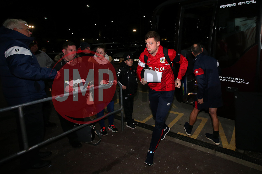 Frank Fielding of Bristol City arrives at Bramall Lane for the fixture against Sheffield United - Mandatory by-line: Robbie Stephenson/JMP - 08/12/2017 - FOOTBALL - Bramall Lane - Sheffield, England - Sheffield United v Bristol City - Sky Bet Championship