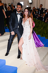 The Weeknd Abel Makkonen Tesfaye and Selena Gomez arriving at The Metropolitan Museum of Art Costume Institute Benefit celebrating the opening of Rei Kawakubo / Comme des Garcons : Art of the In-Between held at The Metropolitan Museum of Art  in New York, NY, on May 1, 2017. (Photo by Anthony Behar) *** Please Use Credit from Credit Field ***