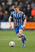 Shrewsbury Town's Greg Docherty during the The FA Cup fourth round match between Shrewsbury Town and Wolverhampton Wanderers at Greenhous Meadow, Shrewsbury, England on 26 January 2019.