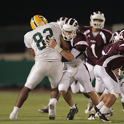 31 October, 2008:  St. Thomas Aquinas G/DE Cameron LeBleau (#54) The St. Thomas Falcons recorded their first shut out of the season with a 41-0 shutout of the Southern Lab Kittens at Strawberry Stadium in Hammond, LA.