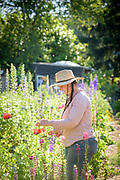 Leah Rodgers, owner of Indigo Gardens flower farm
