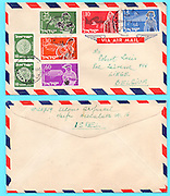 Letter from Haifa, Israel to Belgium 1955