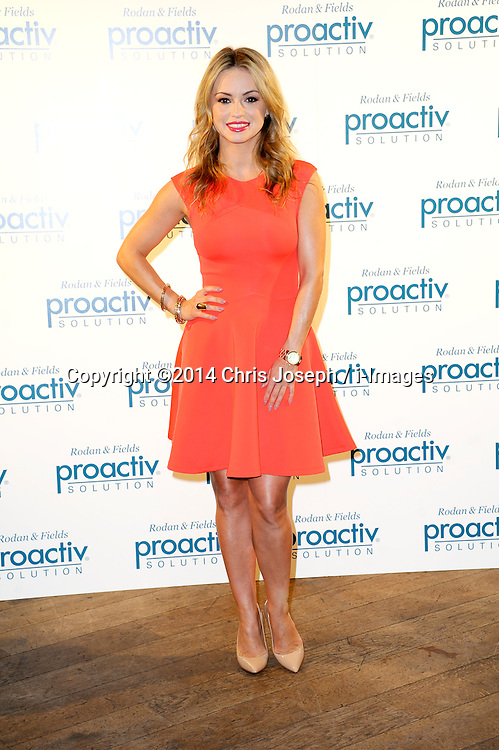 Image ©Licensed to i-Images Picture Agency. 22/07/2014. London, United Kingdom. Strictly Come Dancing star Ola Jordan during photocall for being face of beauty brand Proactiv. Picture by Chris Joseph / i-Images