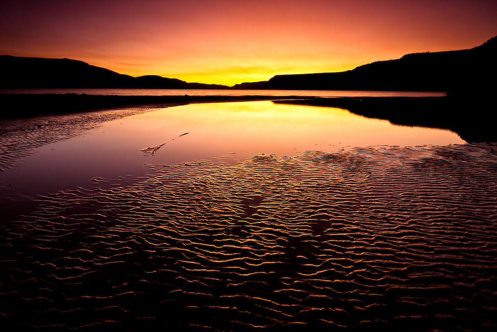 Sunset on Blue Mesa Reservoir near Gunnison, Colorado.