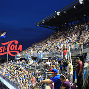 A packed stadium next to the Pepsi Cola sign during the New York Mets V Arizona Diamondbacks Major League Baseball game  at Citi Field, Queens, New York. USA. 3rd July 2013. Photo Tim Clayton
