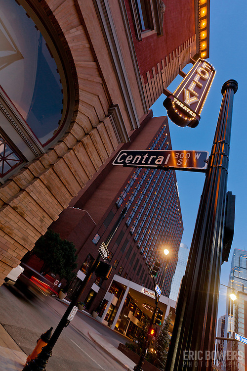 Folly Theater at corner of 12th and Central Streets in downtown Kansas City, Missouri.