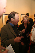 ANTHONY HAYDEN-GUEST AND ALISON JACKSON, Adam Dant: The Art of Hedge. Robilant and Voena Gallery. Dover st. London. 12 November 2007. -DO NOT ARCHIVE-© Copyright Photograph by Dafydd Jones. 248 Clapham Rd. London SW9 0PZ. Tel 0207 820 0771. www.dafjones.com.