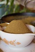 Marijuana plants are turned into powder for internal medicinal uses.
