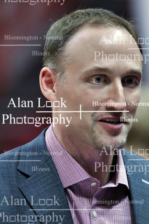 NORMAL, IL - January 05: Dan Muller during a college basketball game between the ISU Redbirds and the University of Evansville Purple Aces on January 05 2019 at Redbird Arena in Normal, IL. (Photo by Alan Look)