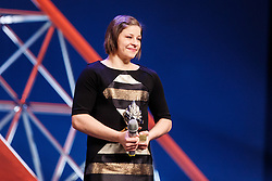 Tina Trstenjak winner of Slovenian sport athlete of the year at Slovenian Sports personality of the year 2016 annual awards presented on the base of Slovenian sports reporters, on December 13, 2016 in Cankarjev dom, Ljubljana, Slovenia. Photo by Grega Valancic / Sportida