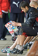 "GOALKEEPER LUKASZ FABIANSKI (POLAND) READS "" FUTBOL "" MAGAZINE AFTER TRAINING ON SOCCER EUROPEAN CHAMPIONSHIP IN BAD WALTERSDORF, AUSTRIA. .BAD WALTERSDORF , AUSTRIA , JUNE 04, 2008.( PHOTO BY ADAM NURKIEWICZ / MEDIASPORT )..PICTURE ALSO AVAIBLE IN RAW OR TIFF FORMAT ON SPECIAL REQUEST."