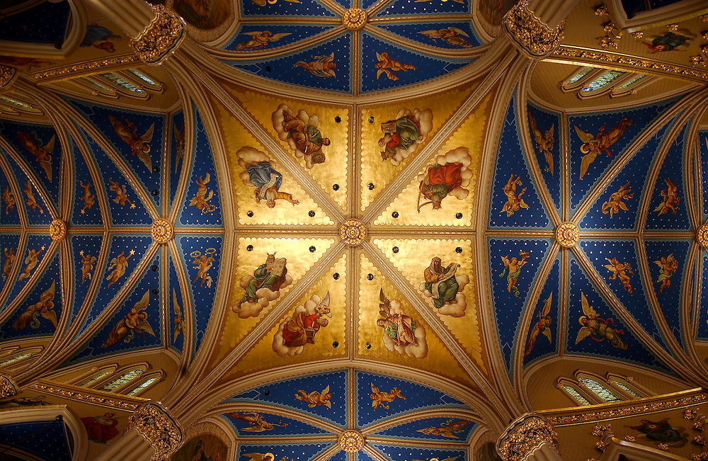 Ceiling of the Basilica of the Sacred Heart.