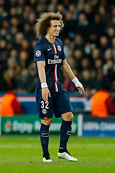 David Luiz of Paris Saint-Germain looks on - Photo mandatory by-line: Rogan Thomson/JMP - 07966 386802 - 17/02/2015 - SPORT - FOOTBALL - Paris, France - Parc des Princes - Paris Saint-Germain v Chelsea - UEFA Champions League, Last 16, First Leg.
