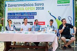 Press conference of ATP Challenger Portoroz, on June 16, 2018 in Tivoli, Ljubljana, Slovenia. Photo by Ziga Zupan / Sportida