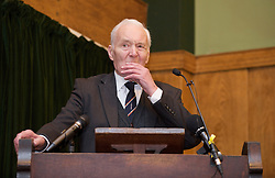 """Anthony Neil Wedgwood """"Tony"""" Benn, PC, formerly 2nd Viscount Stansgate, was a British Labour Party politician who was a Member of Parliament for 50 years and a Cabinet Minister under Harold Wilson and James Callaghan. Born: April 3, 1925 (age 88), Marylebone, United Kingdom<br /> Died: March 14, 2014. Rally in support of WikiLeaks Julian Assange organised by The Stop The War Coalition at Conway Hall, London, Great Britain . 7th February 2011. Tony Benn . Picture by Elliott Franks / i-Images"""