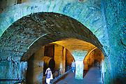 Festung Königstein, Keller, Elbsandsteingebirge, Sächsische Schweiz, Sachsen, Deutschland.|.Fortress Koenigstein, cave, Saxon Switzerland, Saxony, Germany.