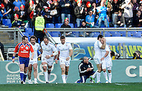 Rome, Italy -Celebrate try and Parisse during Italia vs Francia race of the championship rugby SIX NATIONS played at the Olimpico in Rome.(Credit Image: © Gilberto Carbonari/).