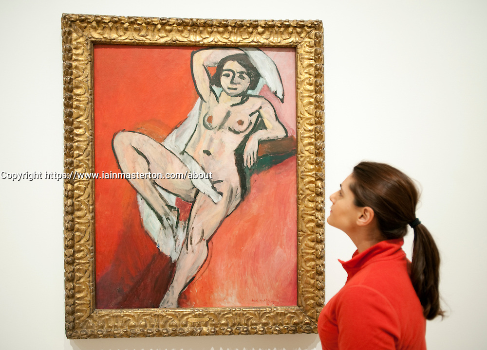 Nude with a White Scarf by Henri Matisse at Statens Museum for Kunst or Royal Museum of Fine Arts in Copenhagen Denmark