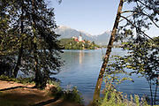 Church of the Assumption on Bled Island in Bled lake. Bled. Slovenia. Eastern Europe.